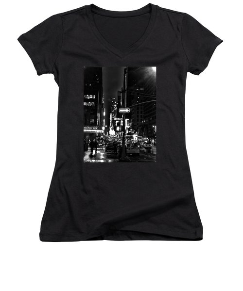 53rd And 7th Women's V-Neck T-Shirt