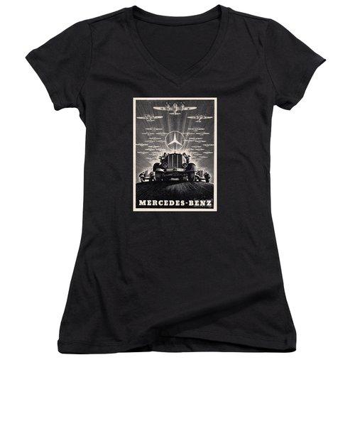 Mercedes - Benz Women's V-Neck T-Shirt