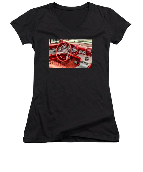 62 Thunderbird Interior Women's V-Neck T-Shirt