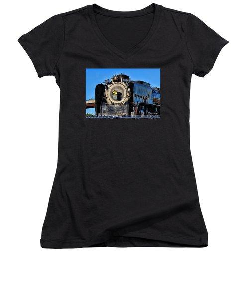 844 Locomotive Women's V-Neck (Athletic Fit)