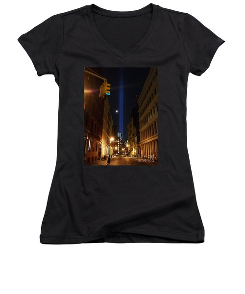 9-11-2013 Nyc Women's V-Neck T-Shirt (Junior Cut) by Jean luc Comperat