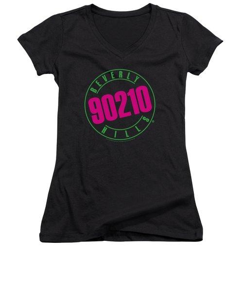 90210 - Neon Women's V-Neck T-Shirt