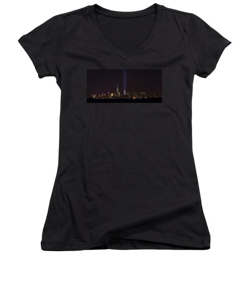 9.11.2014 Women's V-Neck T-Shirt (Junior Cut) by Kenneth Cole