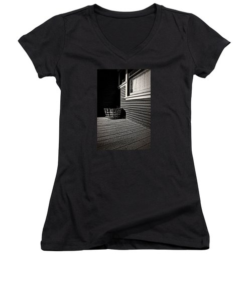 Over A Barrel Women's V-Neck (Athletic Fit)