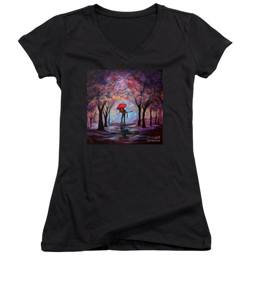A Beautiful Romance Women's V-Neck (Athletic Fit)