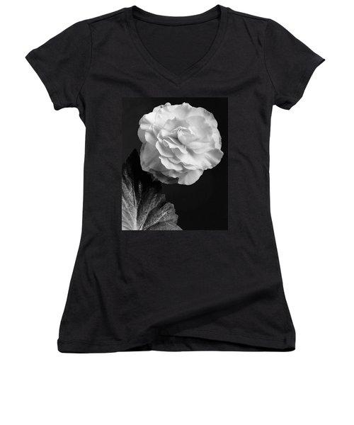 A Camellia Flower Women's V-Neck