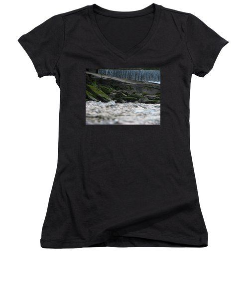 Women's V-Neck T-Shirt (Junior Cut) featuring the photograph A Day At The River by Michael Krek
