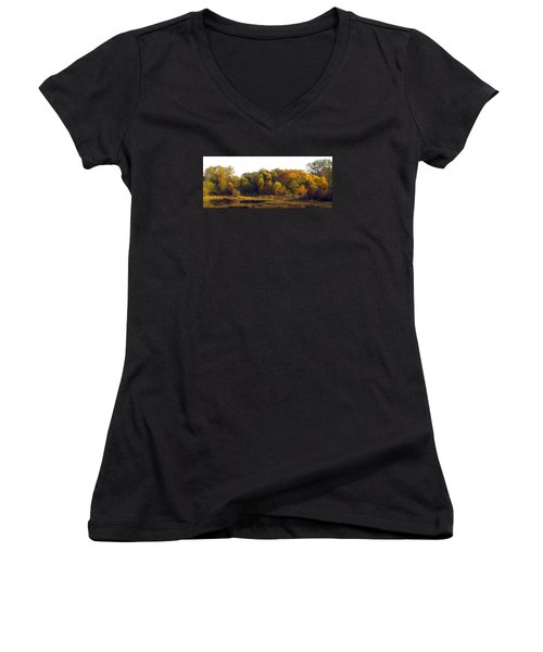 Women's V-Neck T-Shirt (Junior Cut) featuring the photograph A Harvest Of Color by I'ina Van Lawick