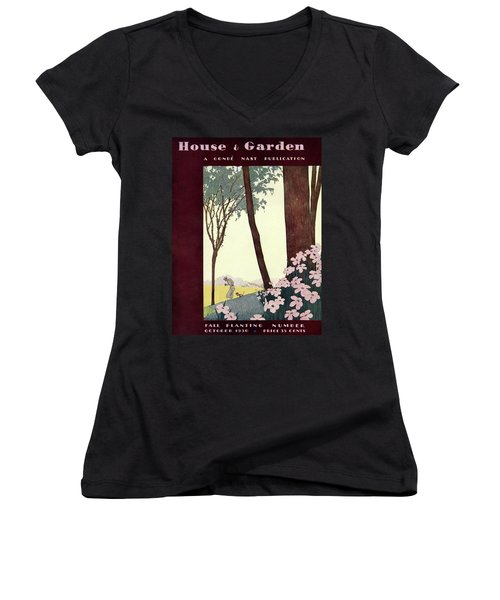 A House And Garden Cover Of A Rural Scene Women's V-Neck