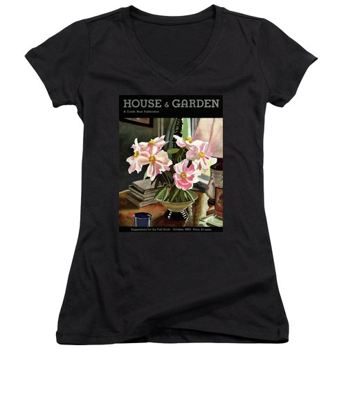 A House And Garden Cover Of Rhododendrons Women's V-Neck