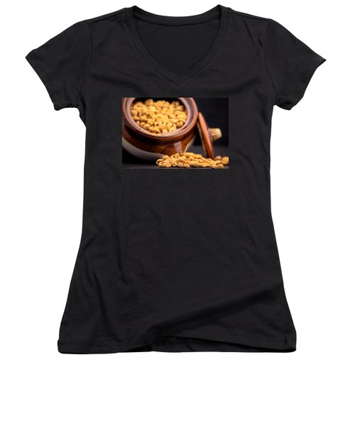 A Jar Of Peanuts Women's V-Neck (Athletic Fit)