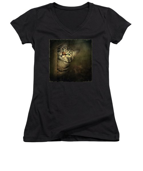 A Little Shy Women's V-Neck