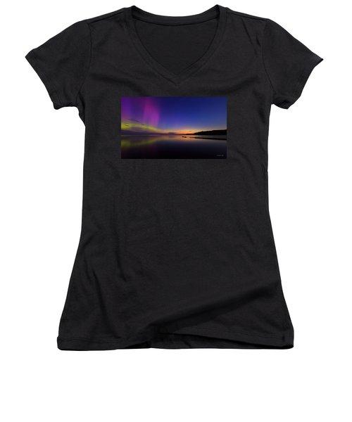 A Majestic Sky Women's V-Neck T-Shirt