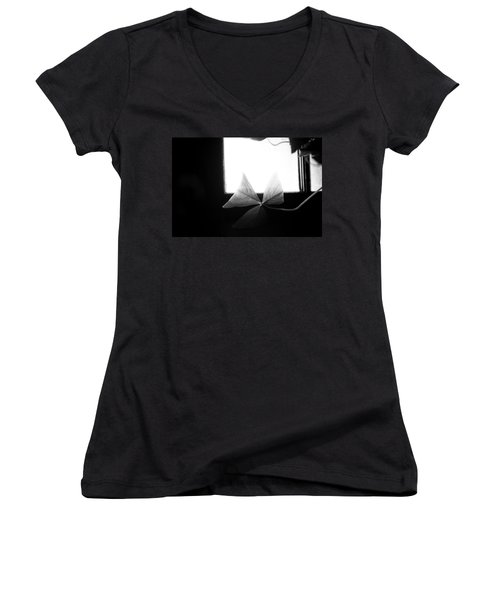 A Moment Alone Women's V-Neck (Athletic Fit)