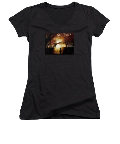 A Moment Beyond Time Women's V-Neck (Athletic Fit)