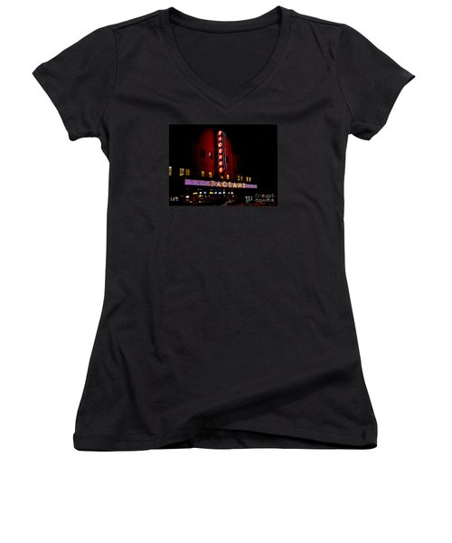 A Night At The Pageant Women's V-Neck T-Shirt (Junior Cut) by Kelly Awad