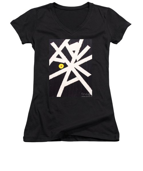 A Path Less Taken Women's V-Neck T-Shirt (Junior Cut) by Roberto Prusso