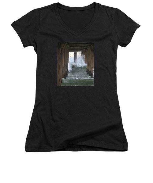 A Rite Of Passage Women's V-Neck T-Shirt (Junior Cut) by Joe Schofield
