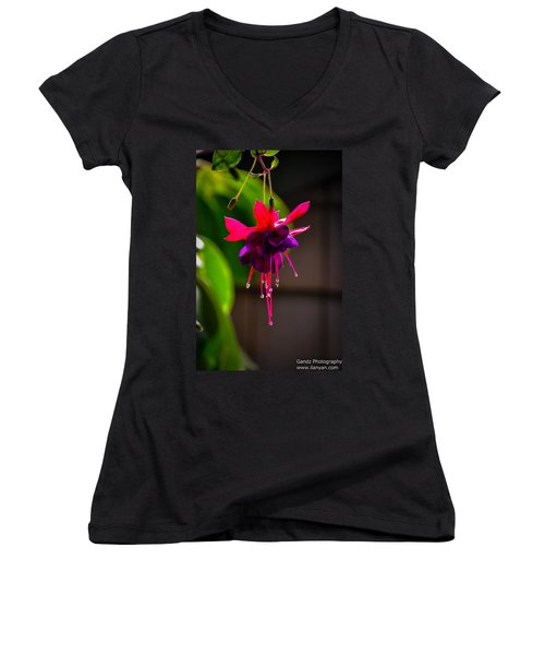 A Special Red Flower  Women's V-Neck