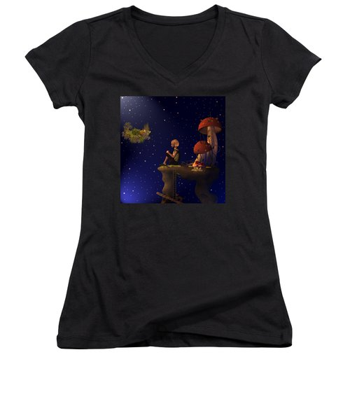 A Starry Starry Night Women's V-Neck (Athletic Fit)