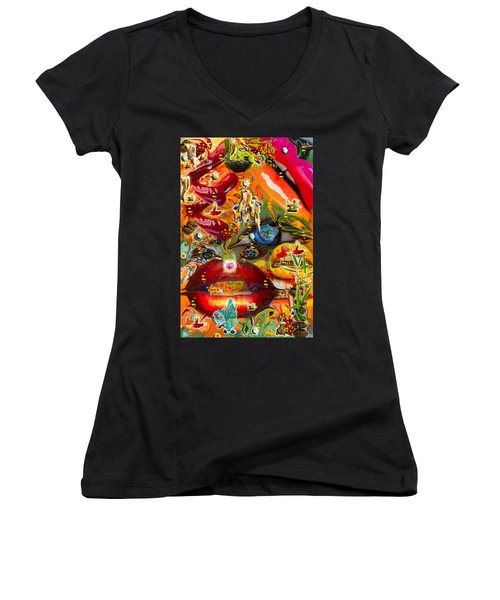 A Taste Of Healing Women's V-Neck T-Shirt (Junior Cut) by Deprise Brescia