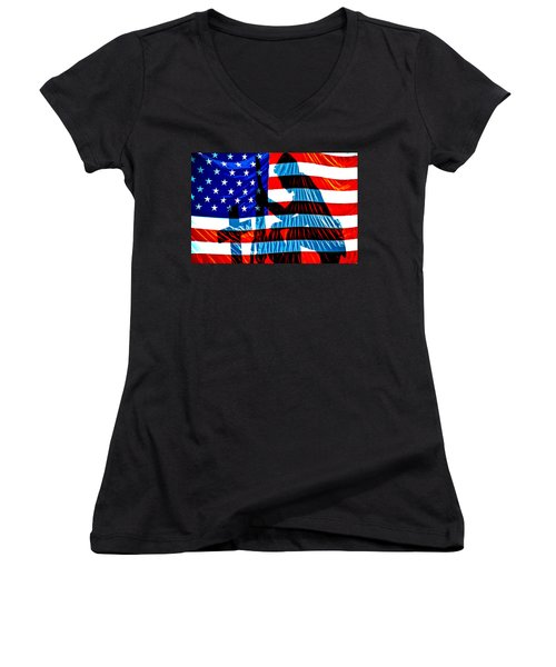 A Time To Remember Women's V-Neck T-Shirt (Junior Cut) by Bob Orsillo