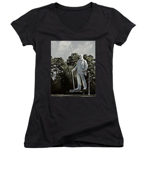 A Tribute To Courage Women's V-Neck T-Shirt (Junior Cut)