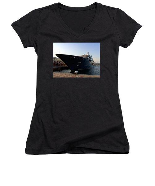 A Weekend Boat Women's V-Neck T-Shirt