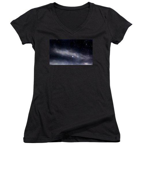 Above Women's V-Neck T-Shirt (Junior Cut) by Angela J Wright
