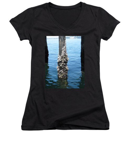 Above The Line Women's V-Neck T-Shirt (Junior Cut) by David Trotter
