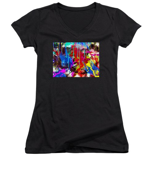 Abstract 6832 Women's V-Neck T-Shirt