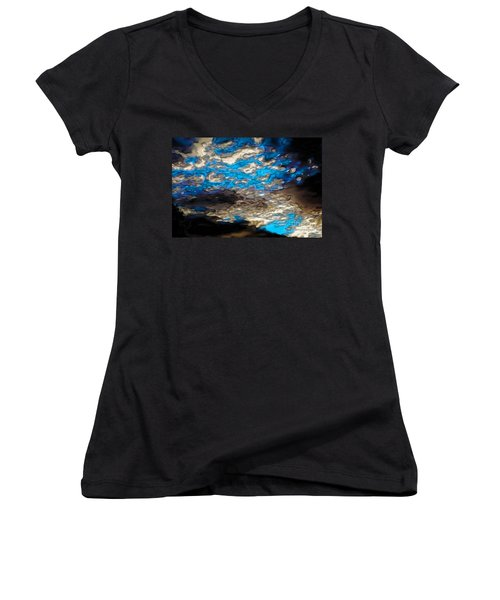 Abstract Clouds Women's V-Neck T-Shirt