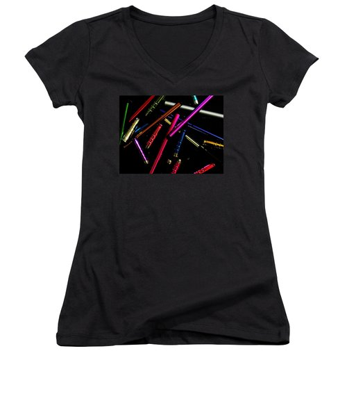 Abstract Elements Women's V-Neck (Athletic Fit)