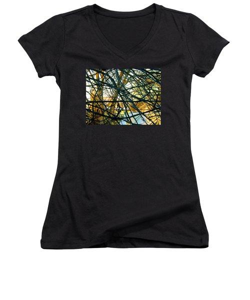 Abstract Tree Women's V-Neck