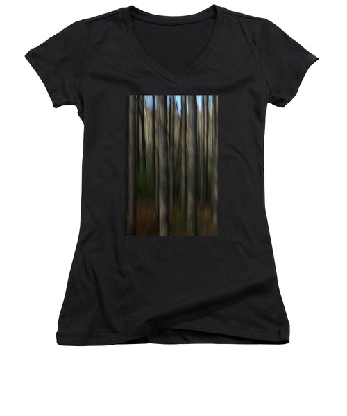 Abstract Woods Women's V-Neck T-Shirt