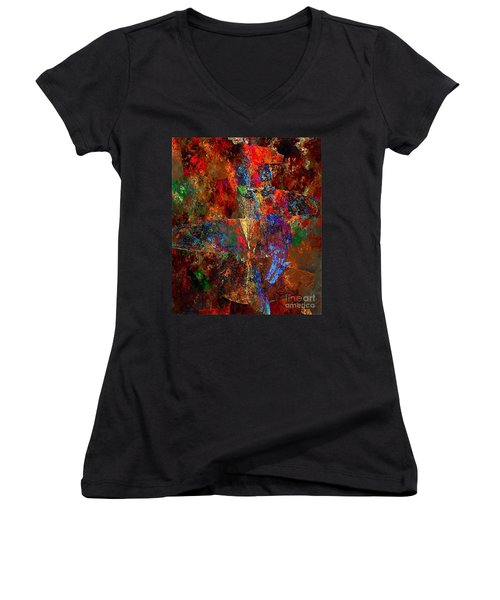Abstraction 0393 Marucii Women's V-Neck (Athletic Fit)
