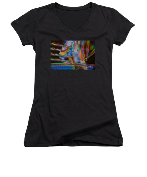 Abstraction In Color 1 Women's V-Neck (Athletic Fit)