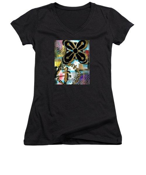 Abundance Women's V-Neck T-Shirt (Junior Cut) by Everett Spruill