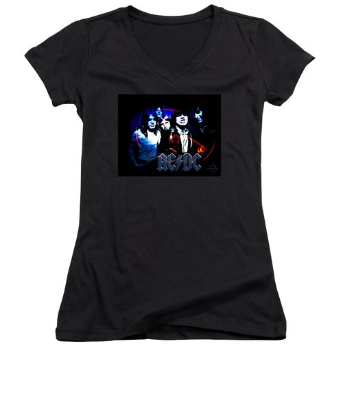 Ac/dc - Rock Women's V-Neck T-Shirt (Junior Cut)