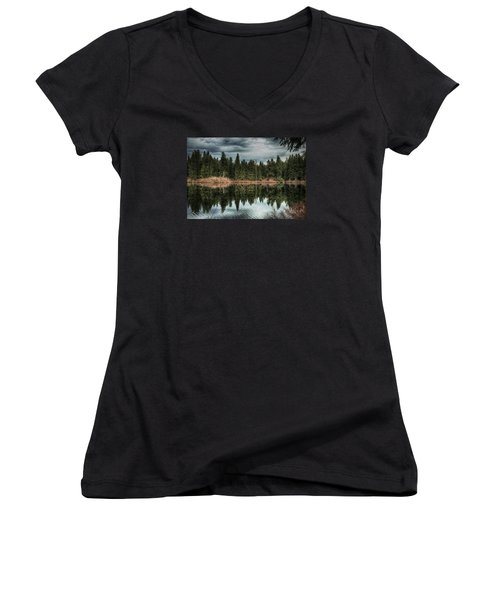 Across The Lake Women's V-Neck