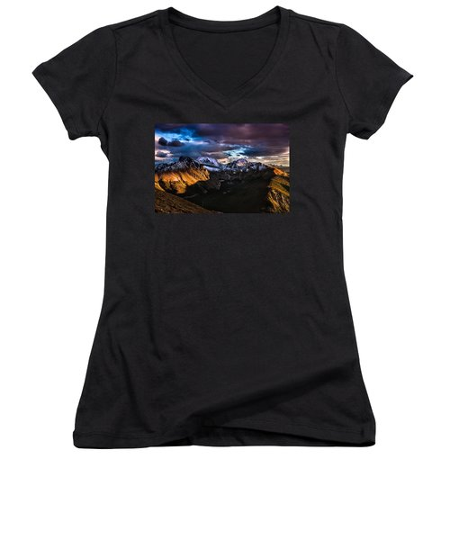 Across The Valley Women's V-Neck (Athletic Fit)