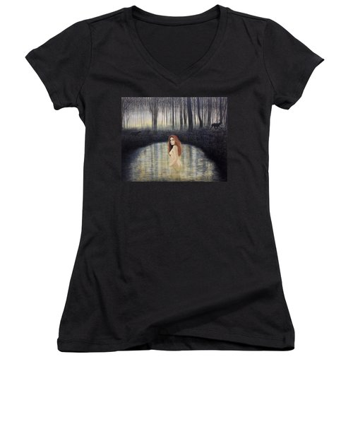 Actaeon And Artemis Women's V-Neck T-Shirt
