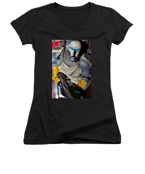 Action Toy Women's V-Neck T-Shirt