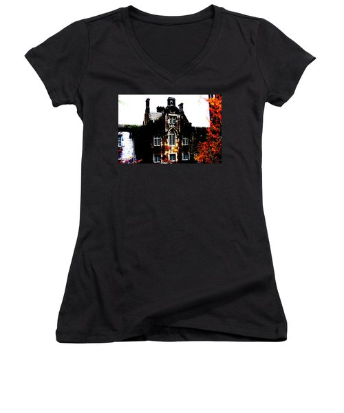 Women's V-Neck T-Shirt (Junior Cut) featuring the photograph Adare Manor by Charlie and Norma Brock