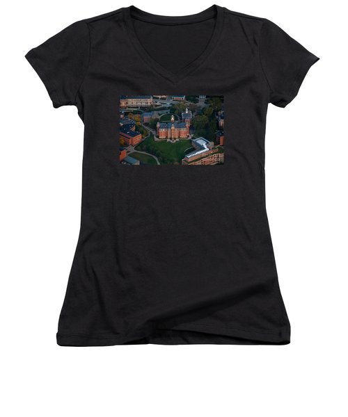 Aerial Of Woodburn Hall Women's V-Neck T-Shirt