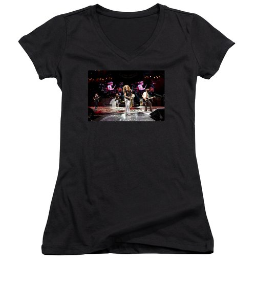 Aerosmith - Austin Texas 2012 Women's V-Neck T-Shirt (Junior Cut) by Epic Rights