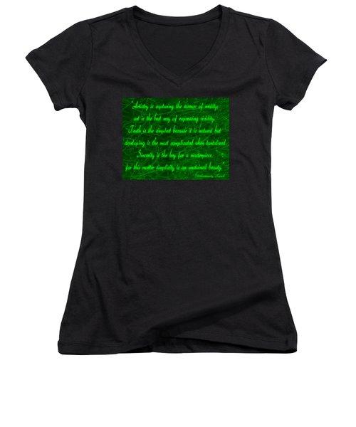 Aesthetic Quote 1 Women's V-Neck T-Shirt