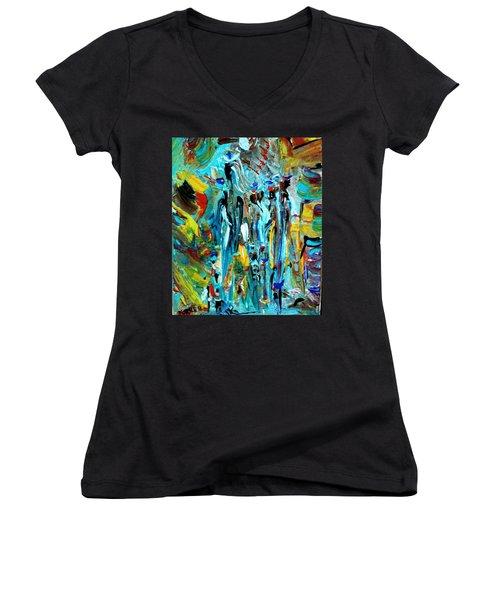African Tribe Festivals Women's V-Neck T-Shirt