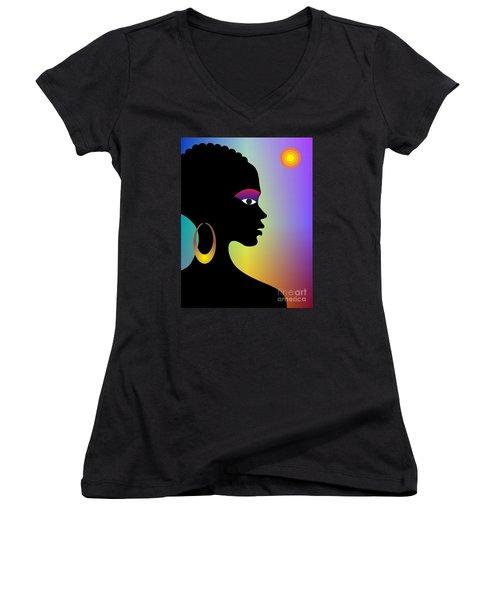 Afroette Women's V-Neck