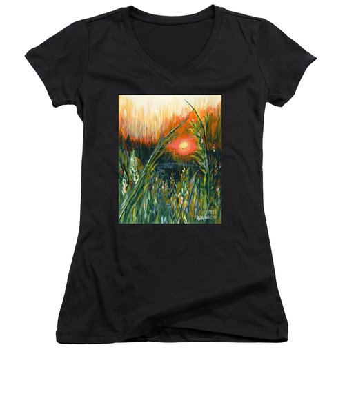 After The Fire Women's V-Neck T-Shirt